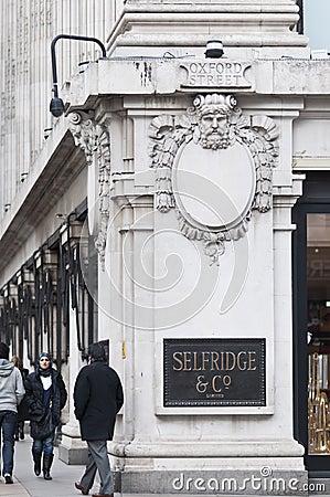 Corner of Selfridges store, London, UK, 2011 Editorial Image