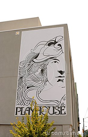 Free Corner Sign For The Playhouse On The Square Memphis Stock Photography - 43346422
