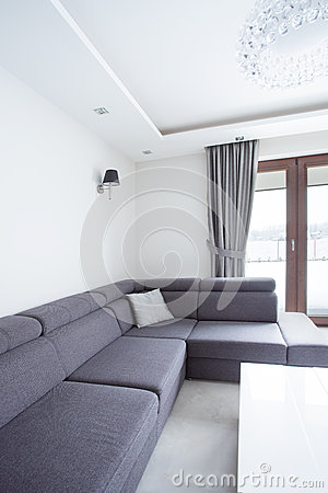 Free Corner Sofa In Drawing Room Royalty Free Stock Photos - 58332268