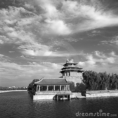 Free Corner Tower Of Forbidden City Royalty Free Stock Photos - 3886438