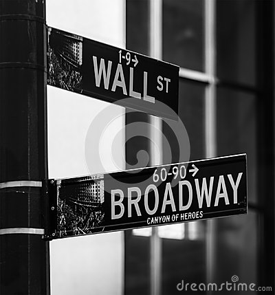 Corner of Wall Street and Broadway