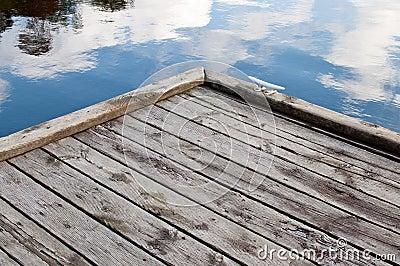 Corner of a wooden dock