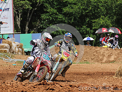 Cornering Motocross Motorcycle Editorial Stock Photo
