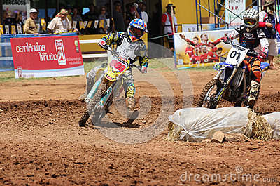Cornering Motocross Motorcycle Editorial Image