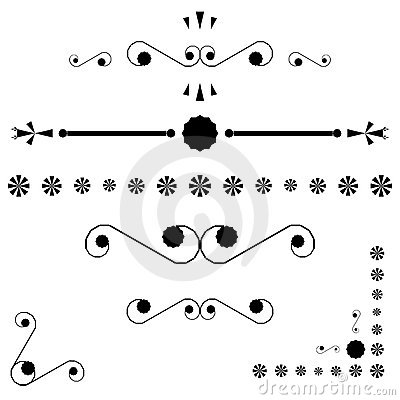 Corners and page end ornaments
