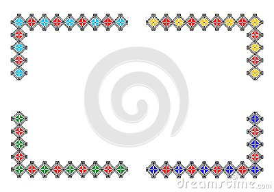 Corners with romanian traditional theme - cdr form