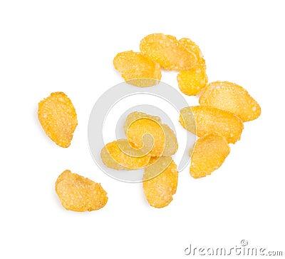 Cornflakes isolated on white