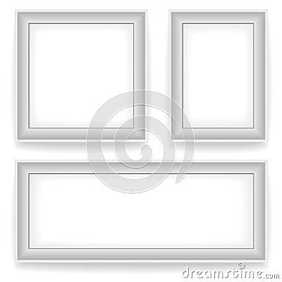 cornici bianche in bianco della parete fotografia stock