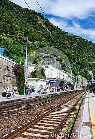 Free Corniglia Train Station, Cinque Terre Stock Photography - 29671842