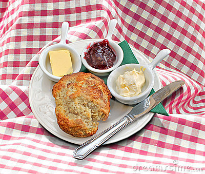 Cornish clotted cream tea