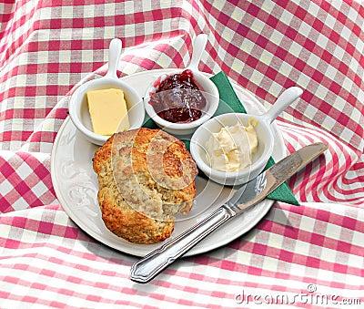 Cornish clotted cream tea