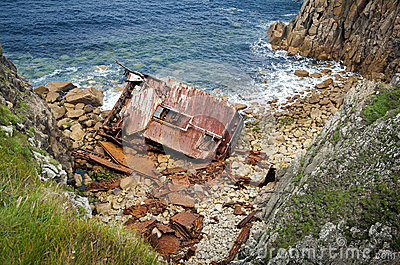 Cornish Coast Lands End wreck