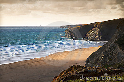 Cornish coast near Newquay, Cornwall, England