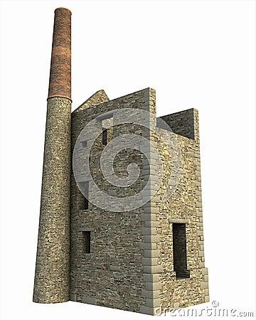 Free Cornish Mine Engine House Stock Photography - 13439052