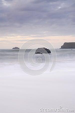 Cornish  seascape from Greenaway Beach.