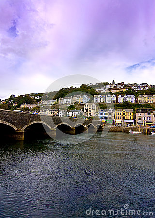 Cornish town and bridge
