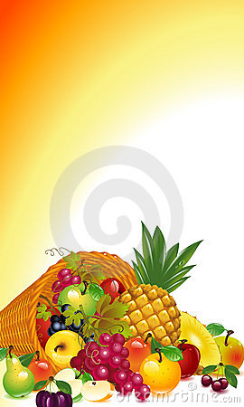Cornucopia With Fruit Royalty Free Stock Photography - Image: 22024087