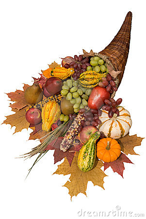 Free Cornucopia With Fall Harvest Royalty Free Stock Photography - 3387937