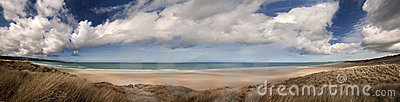 Cornwall beach panoramic