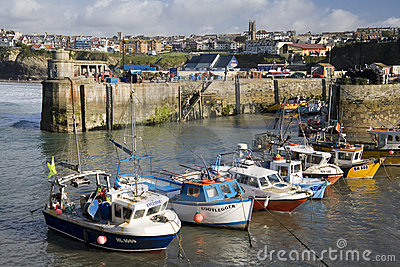Cornwall - Newquay Harbor - United Kingdom Editorial Image