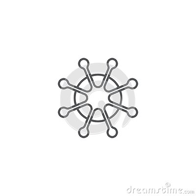 Corona virus, virus line vector icon symbol isolated on white background Vector Illustration