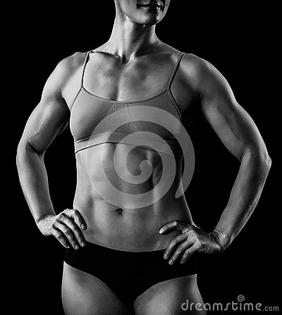 Corpo fêmea muscular