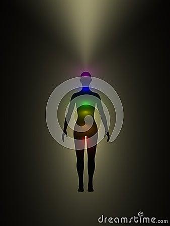 Corpo humano da energia, aura, chakra, energia