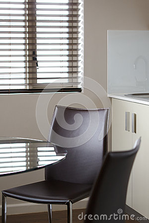 Corporate boardroom chair and glass table