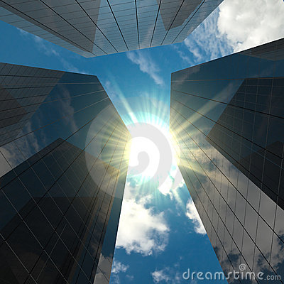 Free Corporate Buildings Stock Image - 9782811