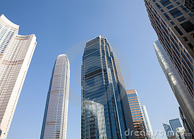 Corporate Buildings In Perspective Royalty Free Stock Photos - Image: 22718068