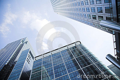 Corporate buildings towards the sky 3