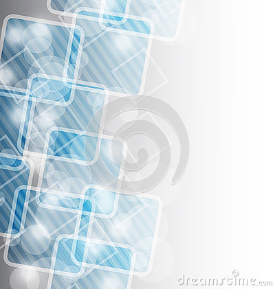 Corporate business card with abstract squares