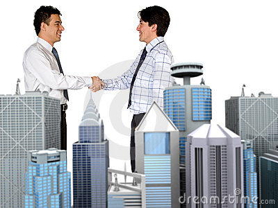 Corporate business deal