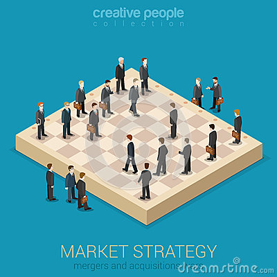 Free Corporate Business Market Strategy Flat Style 3d Isometric Stock Photo - 51125900