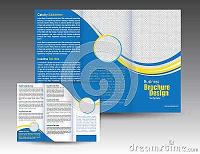 Corporate Business Tri Fold Brochure Template Design Cartoon Vector