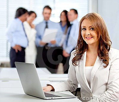 Corporate business worker