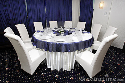 Corporate events or wedding table arrangement