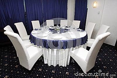 Corporate events or wedding table arrangement