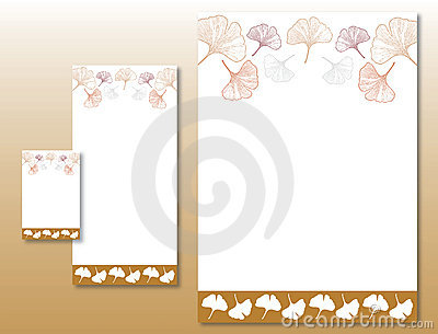 Corporate Identity Set - Ginkgo Leaves