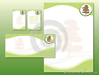 Corporate Identity Set - Japanese Tree