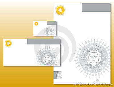 Corporate Identity Set - Sun Logo in Yellow