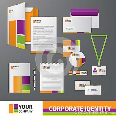 Free Corporate Identity Template Stock Photography - 40244852