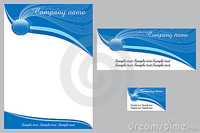 Corporate Identity Design Royalty Free Stock Images - Image: 5178299