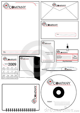 Corporate Identity Template Vector set