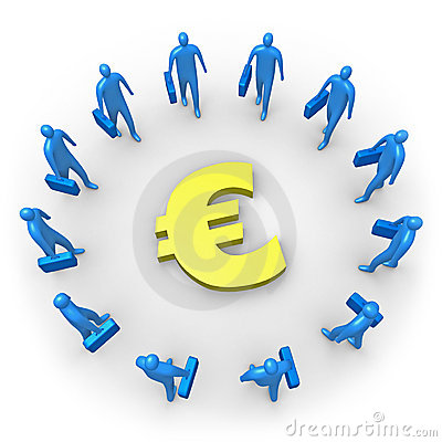 Corporate Income - Euro Royalty Free Stock Im