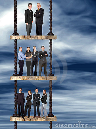 Corporate ladder - business team work