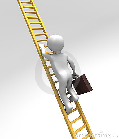 Corporate Ladder Climber (With Clipping Path)