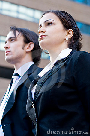 Corporate man & woman