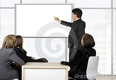 Corporate online trainning - man presenting