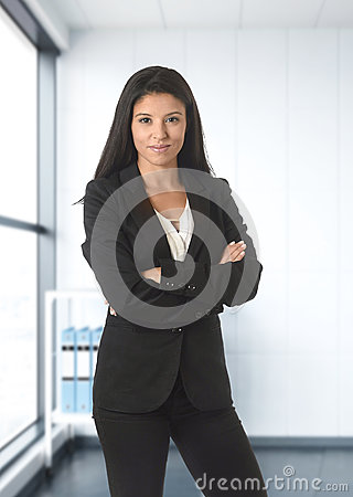 Free Corporate Portrait Of Young Attractive Latin Business Woman Wear Stock Photos - 86536993